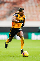 7th February 2021; Molineux Stadium, Wolverhampton, West Midlands, England; English Premier League Football, Wolverhampton Wanderers versus Leicester City; Adama Traoré of Wolverhampton Wanderers runs with the ball down the wing