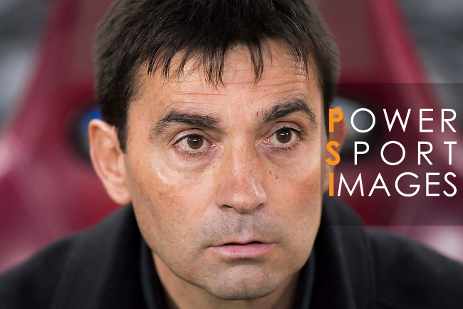 Head coach Asier Garitano of Deportivo Leganes prior to the La Liga match between Atletico de Madrid and Deportivo Leganes at the Vicente Calderón Stadium on 04 February 2017 in Madrid, Spain. Photo by Diego Gonzalez Souto / Power Sport Images