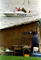 La crise d'Oka : Akwesasne<br /> <br /> PHOTO : Agence Quebec Presse - Shaney Komulainen