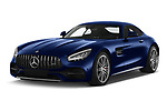 2020 Mercedes Benz AMG-GT C 3 Door Coupe Angular Front automotive stock photos of front three quarter view