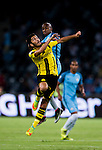 Borussia Dortmund midfielder Nuri Sahin (l) fights for the ball with Manchester City midfielder Fabian Delph (r) during the match between Manchester City FC during their 2016 International Champions Cup China match at the Shenzhen Stadium on 28 July 2016 in Shenzhen, China. Photo by Marcio Machado / Power Sport Images