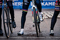 CX world champion Mathieu Van der Poel (NED/Alpecin-Fenix) at the race start<br /> <br /> 2020 Scheldecross Antwerp (BEL)<br /> <br /> ©kramon