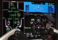 Prodigy Touch avionics suite based on the Garmin 3000 integrated flight deck installed in the instrument panel of an Embraer Phenom 300