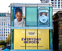 Everyday Heroes is an outdoor exhibition on walls and windows around the Southbank Centre. It celebrates the contributions that key workers and frontline staff have made during the coronavirus pandemic. South Bank, London on September 16th 2020<br /> <br /> Photo by Keith Mayhew