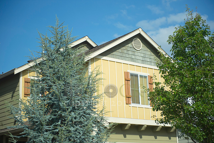 Second Story of Yellow and Green Home