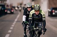 Christopher Juul-Jensen (DEN/Michelton-Scott)<br /> <br /> Omloop Het Nieuwsblad 2018<br /> Gent › Meerbeke: 196km (BELGIUM)