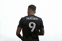 SAN JOSE, CA - FEBRUARY 29: Danny Hoesen #9 of the San Jose Earthquakes during a game between Toronto FC and San Jose Earthquakes at Earthquakes Stadium on February 29, 2020 in San Jose, California.