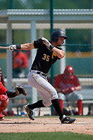 Pittsburgh Pirates Zac Susi (35) during a minor league Spring Training game against the Philadelphia Phillies on March 13, 2019 at Pirate City in Bradenton, Florida.  (Mike Janes/Four Seam Images)
