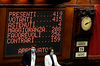 The display showing the result of the vote at the Chamber of Deputies, during the final vote on the Justice Decree. Rome (Italy), June 25th 2020<br /> Foto Samantha Zucchi Insidefoto