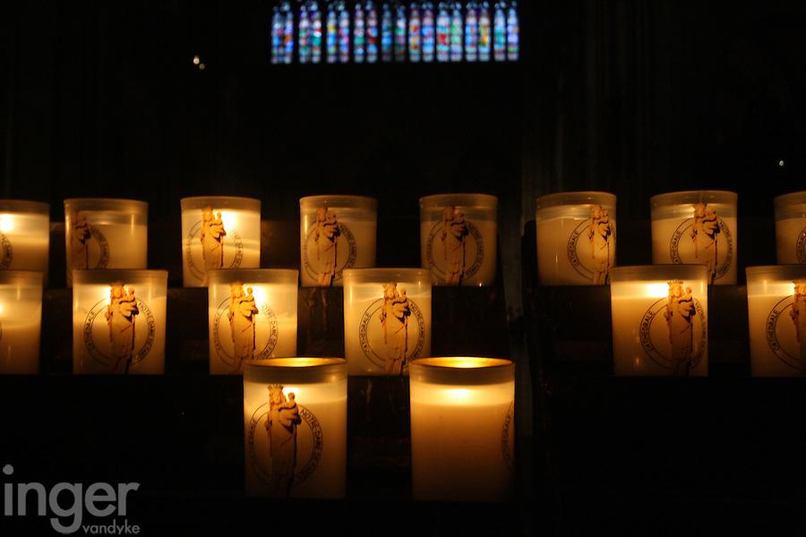 Inside Notre Dame Cathedral in Paris, France