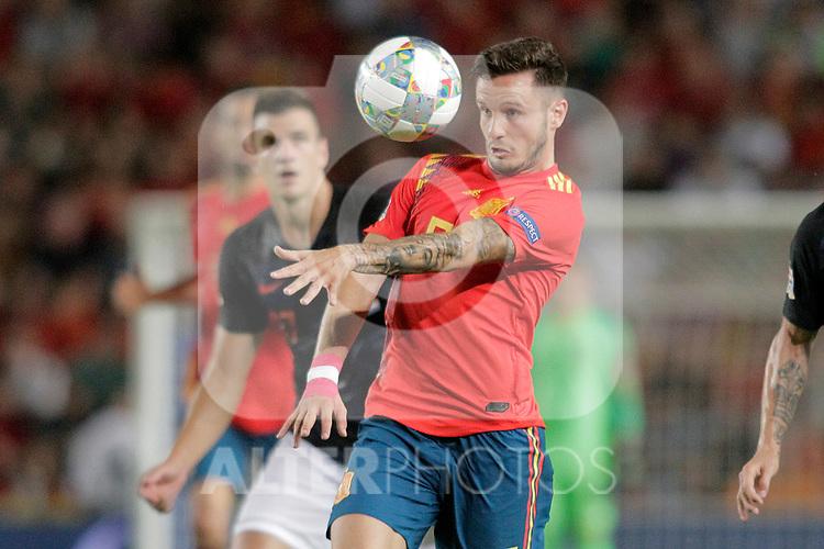Spain's Saul Niguez (r) and Croatia's Ivan Santini during UEFA Nations League 2019 Final Tournament match. September 11,2018.(ALTERPHOTOS/Acero)