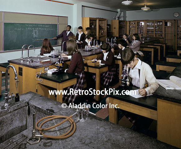 Students learning at science laboratory
