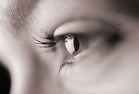 Closeup of a woman's eye. United States.