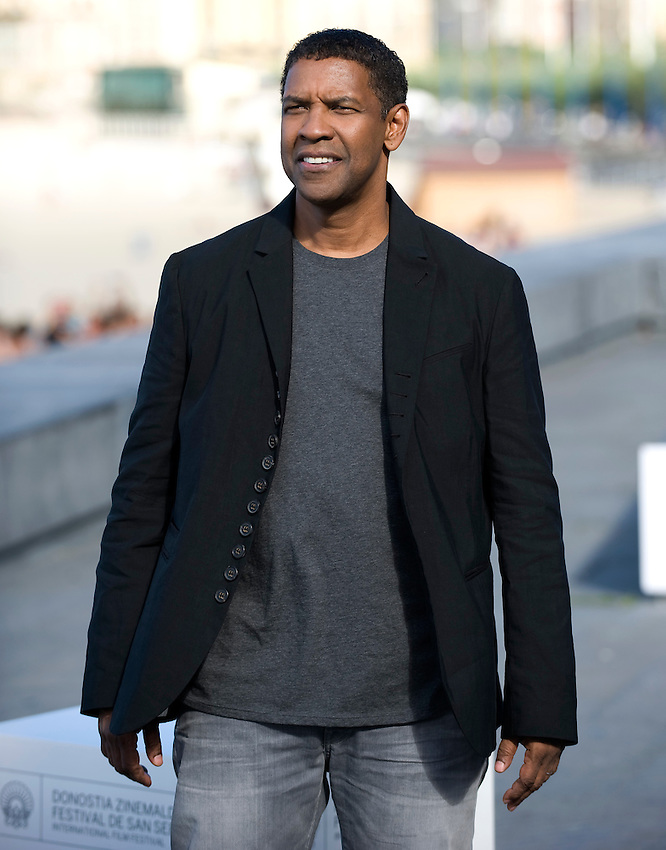 """Actor Denzel Washington attends a pohotocall to promote his film """"The Equalizer"""" during the 62nd San Sebastian Film Festival on September 19, 2014, Basque country. (Ander Gillenea / Bostok Photo)"""