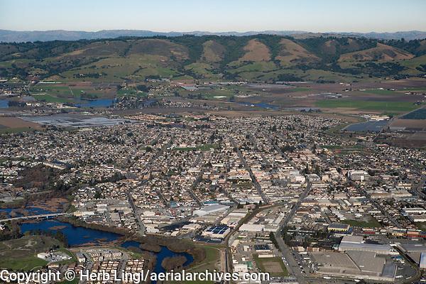 aerial photograph of Watsonville, Santa Cruz County, California
