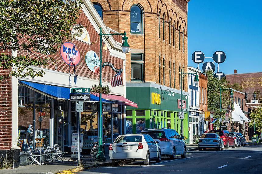 Main Street, Rockland, Maine, USA