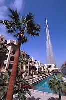 Vereinigte arabische Emirate (VAE, UAE), Dubai, , Hochhaus Burj Khalifa, das höchste Gebäude der Welt