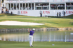 David Lipsky of USA plays an approach shot on the 18th hole during the 58th UBS Hong Kong Golf Open as part of the European Tour on 11 December 2016, at the Hong Kong Golf Club, Fanling, Hong Kong, China. Photo by Vivek Prakash / Power Sport Images