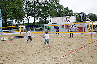 Netherlands, Den Bosch, 18.06.2014. Tennis, Topshelf Open, Kidsday, beachtennis<br /> Photo:Tennisimages/Henk Koster