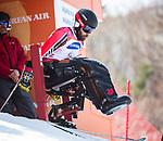 Kurt Oatway, PyeongChang 2018 - Para Alpine Skiing // Ski para-alpin.<br /> Kurt Oatway at the start of the giant slalom // Kurt Oatway au départ du slalom géant. 14/03/2018.