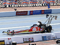 Apr 12, 2015; Las Vegas, NV, USA; NHRA top fuel driver Doug Kalitta during the Summitracing.com Nationals at The Strip at Las Vegas Motor Speedway. Mandatory Credit: Mark J. Rebilas-