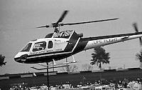 Life flight helicopter at the Atlanta Journal 500 at Atlanta International Raceway in Hampton, GA, November 1988.  (Photo by Brian Cleary/www.bcpix.com)