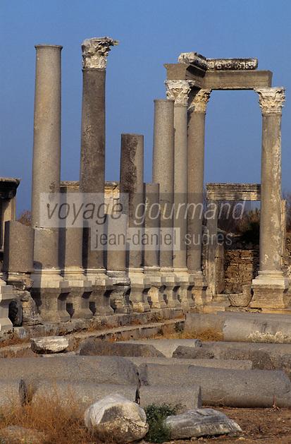 Europe/Turquie/Pergé : Détail de l'amphithéâtre construit au II° siècle