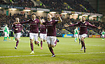 03.03.2020 Hibs v Hearts: Ollie Bozanic celebrates his goal for Hearts