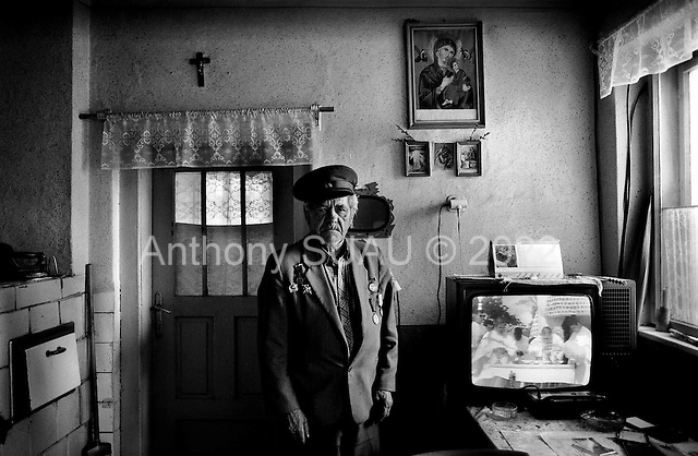 Humensky Rokytov, Slovakia Republic.July 1997.Vasil Prepelica was born in 1925 and is a WWII partisan hero fighting the Nazis along side the Russians to defend Slovakia..