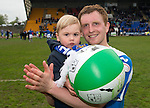 St Johnstone v Motherwell.....19.05.13      SPL.Liam Craig celebrates with son Calvin.Picture by Graeme Hart..Copyright Perthshire Picture Agency.Tel: 01738 623350  Mobile: 07990 594431