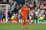 Real Madrid´s goalkeeper Iker Casillas leaves the field after losing the Champions League semi final soccer match between Real Madrid and Juventus at Santiago Bernabeu stadium in Madrid, Spain. May 13, 2015. (ALTERPHOTOS/Victor Blanco)