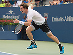Andy Murray (GBR) loses the first set against Adrian Mannarino (FRA) 7-5