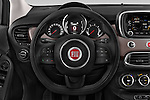 Car pictures of steering wheel view of a 2015 Fiat 500X Lounge 5 Door SUV