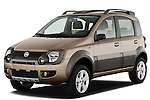 Front three quarter view of a 2009 Fiat Panda 5 Door 4x4.