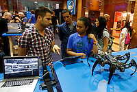 Un robot alla Maker Faire, mostra sull'innovazione tecnologica, a Roma, 4 ottobre 2014.<br /> A robot displayed at the Maker Faire exhibition on technological innovation in Rome, 4 October 2014.<br /> UPDATE IMAGES PRESS/Riccardo De Luca