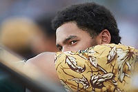 Leody Taveras (3) of the Down East Wood Ducks during the game against the Winston-Salem Dash at BB&T Ballpark on May 12, 2018 in Winston-Salem, North Carolina. The Wood Ducks defeated the Dash 7-5. (Brian Westerholt/Four Seam Images)