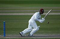 16th April 2021; Emirates Old Trafford, Manchester, Lancashire, England; English County Cricket, Lancashire versus Northants; Ricardo Vasconcelos of Northamptonshire pushes to square