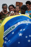 O corpo da missionária americana é velado na cidade de Anapú onde será enterrada.<br />  Anapú, Pará, Brasil<br /> 14/02/2005<br /> Foto Paulo Santos