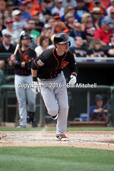 Matt Duffy - San Francisco Giants 2016 spring training (Bill Mitchell)