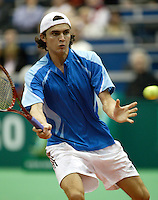20-2-06, Netherlands, tennis, Rotterdam, ABNAMROWTT, Simon in his match against Moodie i.