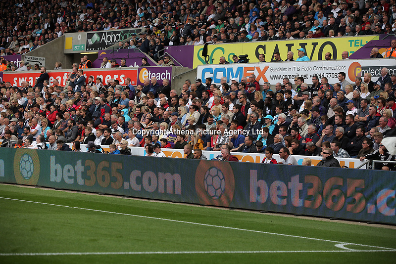 The new LED screens during the English Premier League soccer match between Swansea City and Manchester United at Liberty Stadium, Swansea, Wales, UK. Saturday 18 August 2017