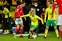 2nd January 2021; Carrow Road, Norwich, Norfolk, England, English Football League Championship Football, Norwich versus Barnsley; Todd Cantwell of Norwich City takes on Callum Brittain of Barnsley