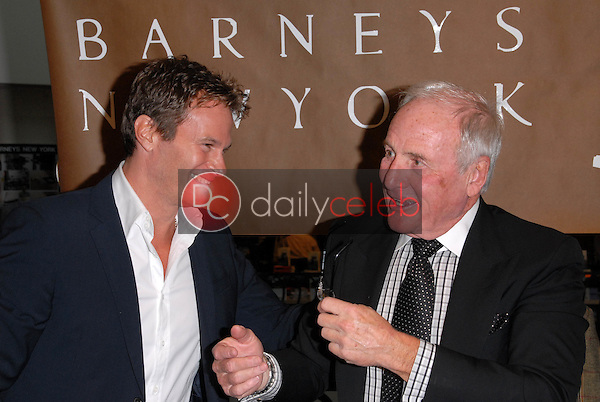 """Rande Gerber and Jerry Weintraub<br /> at a celebration of Jerry Weintraub's New Book """"When I Stop Talking You'll Know I'm Dead,"""" Barney's New  York, Beverly Hills, CA. 05-18-10<br /> David Edwards/Dailyceleb.com 818-249-4998"""
