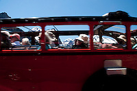 Red Bus Tour, Glacier National Park, Montana, US