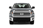 Car photography straight front view of a 2017 Toyota Tundra TRD-Pro-4WD-Crew-Max-Short-Bed 4 Door Pickup Front View