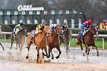 February 28, 2021: The Mary Rose #10 , ridden by Martin Garcia wins the Downthedustyroad Breeders Stakes for trainer Brad H. Cox at Oaklawn Park in Hot Springs,  Arkansas.  Ted McClenning/Eclipse Sportswire/CSM