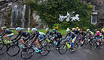 The peloton on the way for the 2015 GranPiemonte race, first held in 1906, running 185km race starting at San Francesco al Campo and finishing in Cirie, Italy. 2nd October 2015.<br /> Picture: Claudio Peri/ANSA | Newsfile