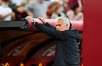 Calcio, Serie A: AS Roma vs SSC Napoli, Olympic stadium, October 24, 2021.<br /> Roma's coach José Mourinho prior to the Italian Serie A football match between Roma and Napoli at Rome's Olympic stadium, on , October 24, 2021. <br /> UPDATE IMAGES PRESS/Isabella Bonotto