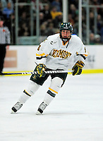 24 November 2009: University of Vermont Catamount forward Sebastian Stalberg, a Freshman from Gothenburg, Sweden, in action against the University of Massachusetts Minutemen at Gutterson Fieldhouse in Burlington, Vermont. The Minutemen defeated the Catamounts 6-2. Mandatory Credit: Ed Wolfstein Photo