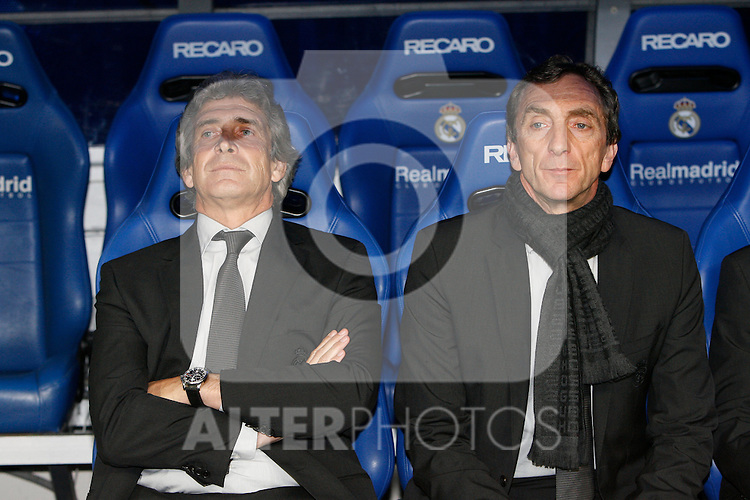 MADRID (18/04/2010).- Spanish League match Real Madrid vs Valencia. Manuel Pellegrini...Photo: Alex Cid-Fuentes / ALFAQUI